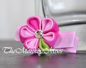 Pink Bubblemint Mini Moonlit - A Posh Twist on Hair Clips for Little Girls