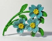 Vintage Pin of Dogwood Flowers