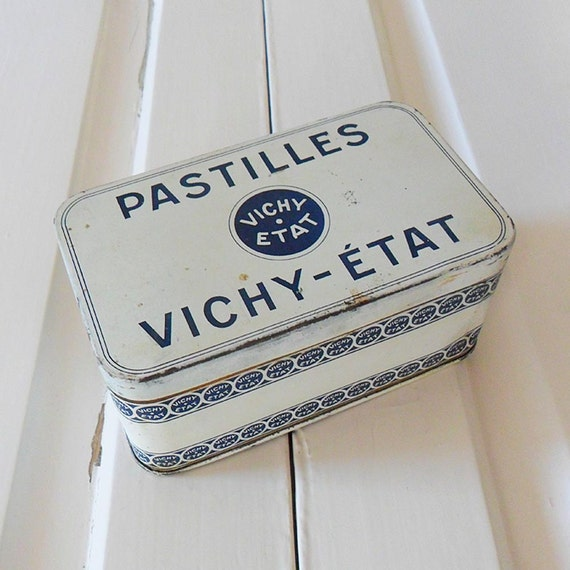Vintage French Vichy Pastille Tin