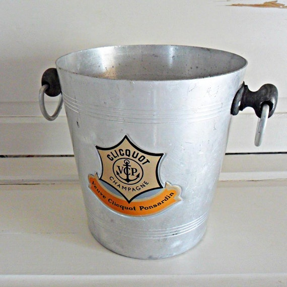 Vintage French Veuve Clicquot Champagne Ice Bucket