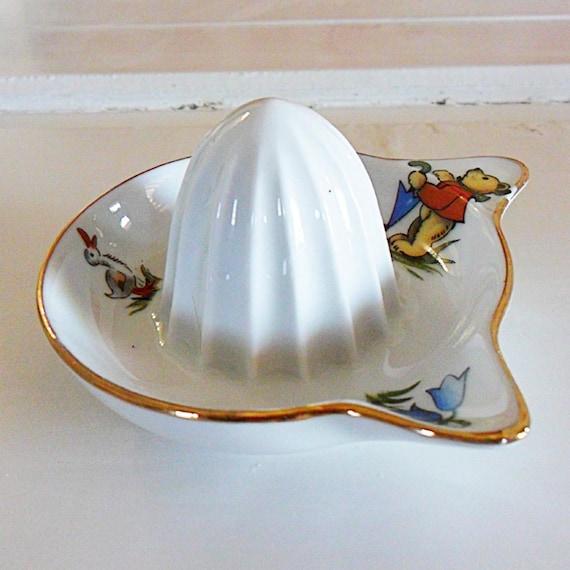 Vintage French Ceramic Lemon Squeezer