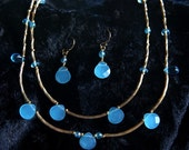 Simply Sea Glass - Set of Necklace and Earrings