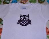 Owl Onesie- 0 to 3 Months