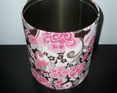 Pink and Brown Floral Organizer