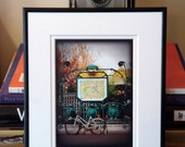 SALE--Bicycle at Place Louis-Lepine, Paris Metro, Cycling,Travel, Europe, City, Urban, 5x7 (MATTED to fit 8x10 frame) fine art print