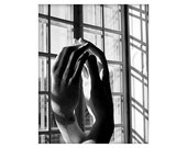 Lovers' hands, Cathedral Hands by Rodin, Paris, France,  8x10 unmatted photograph