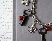 Key Bracelet: Keys to my Heart, Keepsake pouch and gift box included