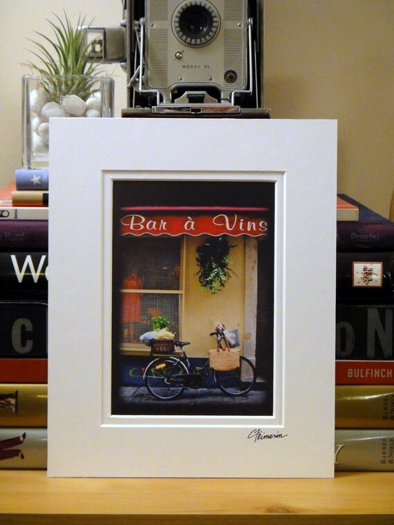 SALE--France, Bicycle in Arles, 5x7 (MATTED to fit 8x10 frame)