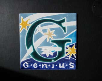 Tile Trivet for the Genius in the Stars Box