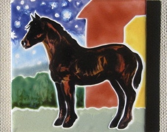 Andalusian Horse Under The Starry Sky Wood Frame