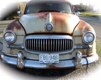 Vintage Buick Smiling  Car  Card