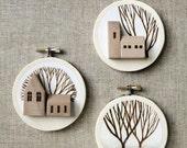 Original 3D Farmhouse Embroidery Hoop Art