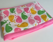 Ready to Ship // Urban Zoologie Whales on Hot Pink Hand Dyed Burp Cloth