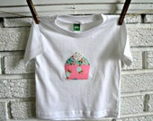 Cupcake Applique Shirt /// Available in 12m, 18m, 24m, 3T, and 4T