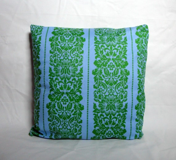 Green and Blue Pillow Cover- Ready to ship