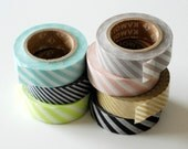 Striped Japanese Washi Tape -- ONE ROLL