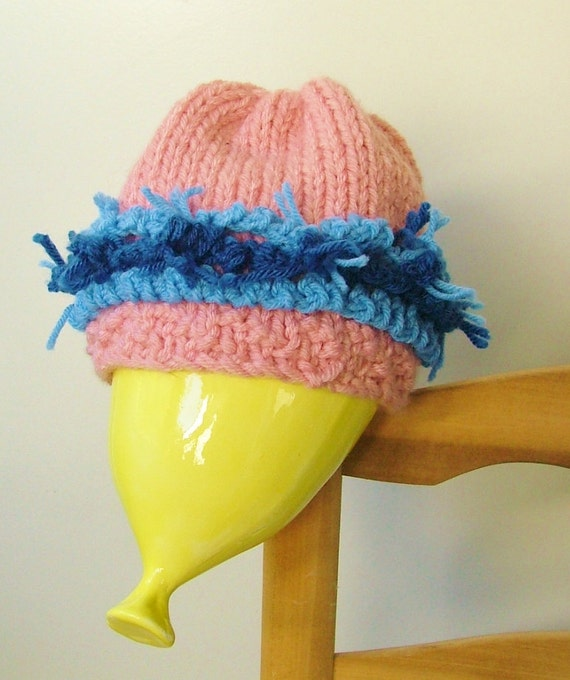 SALE on Pink and Blue Sparkle Hat