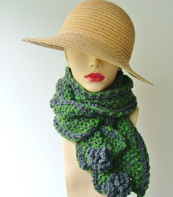 The Irish Green and Grey Scarf