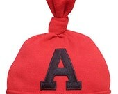 Kensington Baby Large Initial Baby Boys Cotton Baby Hat, 0-18 Months, Many Colors