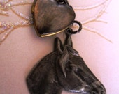 I Love My Horse Locket Necklace