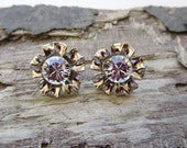 FLOWER Swarovski Earrings Diamond Crystal Stone Silver Nickel Post CHOOSE COLOR