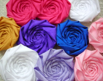 Fabric Flowers Bulk, Wholesale Flowers, flowers for hair, flowers for headband, flowers for crafts, fabric rosettes, pink rosettes