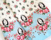 """SALE Stunning and hard to come by Vintage Mint Condition Fabric 36"""" X 64"""" perfect for many crafting projects......"""
