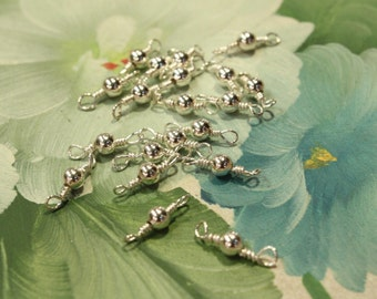 4 pcs - Sterling Silver Beads Connectors