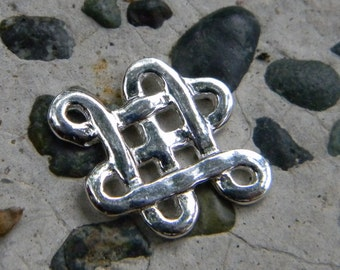 One pair of  Sterling Silver Celtic Knot Connector