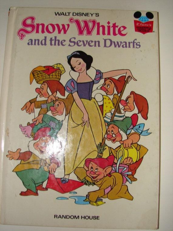 Book Cover Of Snow White : Vintage book snow white and the seven dwarfs destash sale