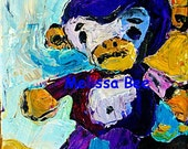 LIttle Vintage Toy Monkey painting by Melissa BEE