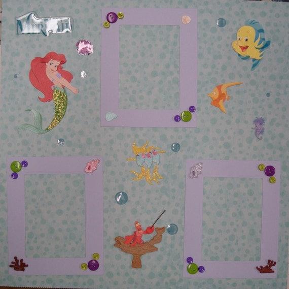 Disney's The Little Mermaid Premade 12x12 Scrapbook Page