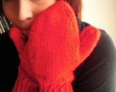 Lobster Red Mittens