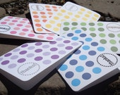 Thank You Cards - Set of 6 - Rainbow Sparkle Mixed Pack - FREE SHIPPING