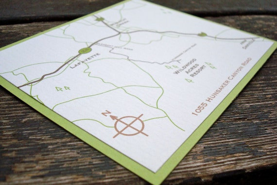 Custom Wedding Map Design | coordinate with your invitations | Event Map Illustration | Printed maps as low as 1.59 per map