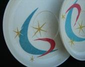 Art Deco Saucers 4 piece
