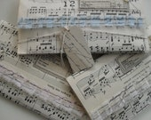 Vintage paper music stitched keepsake envelope pockets lovely for photographs confetti ephemera gifts treasures etc