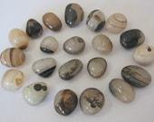 Destash - Brown striped agate bead