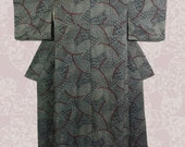Vintage Japanese Kimono Ai Shibori