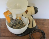 Vintage Industrial Stand Sunbeam MIXMASTER S Antique White mixer