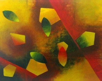 Floating In The Space - Original Abstract Acrylic Painting