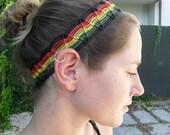 reggae macrame headband