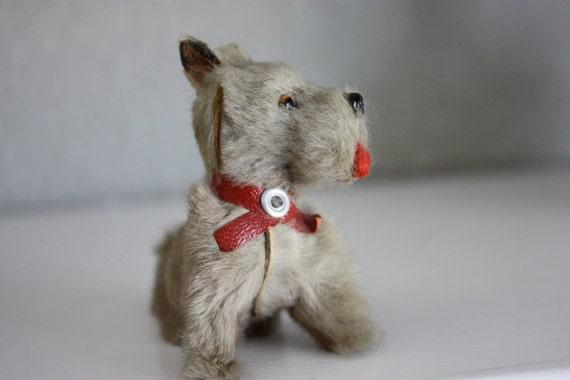 Reserved for Leah Elizabeth --Tiny Vintage Dog Figurine- Germany