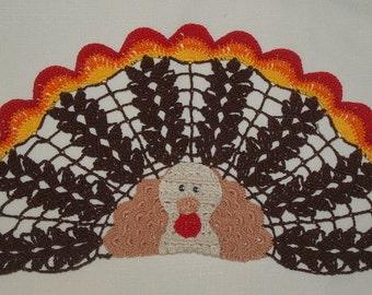 Thanksgiving Turkey Doily Crochet Pattern