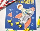 Spaceship Birthday Invitations (Pack of 10)