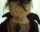 Hallowed Hattie Doll for Halloween PRINTED PATTERN by cheswickcompany