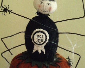 Primitive Folk Art Halloween Spider E PATTERN by cheswickcompany