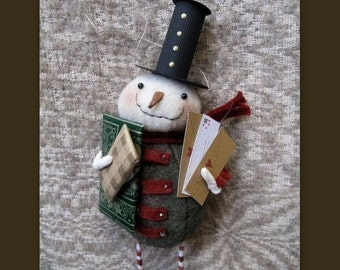 Snowman Postman Ornament KIT by cheswickcompany