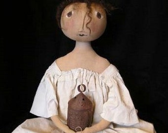 Primitive Folk Art HANNAH Doll E PATTERN by cheswickcompany