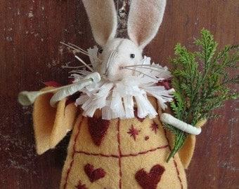 KIT  White Rabbit Ornament  Alice in Wonderland by cheswickcompany